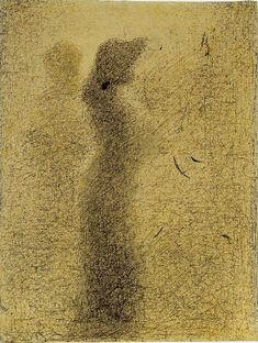 georges seurat | night stroll | 1887 - 88 | conté crayon on paper