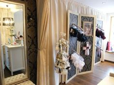 I have to make a divider that can use slat hooks Dressing Room Closet, Dressing Rooms, Closet Vanity, Underwear Shop, Hat Shop, My Boutique, Lingerie Stores, Traveling By Yourself, Retail