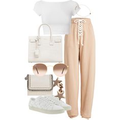 Untitled #22238 by florencia95 on Polyvore featuring Helmut Lang, Puma, Yves Saint Laurent, STELLA McCARTNEY, Kismet and Ray-Ban