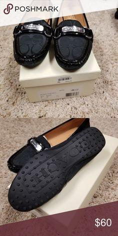 1e0ef68e0fd Coach Olive Smoke Black Signature Flat Loafers 8M in 2018