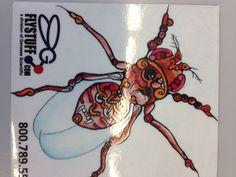 Artsy fruit fly.  Drosophila