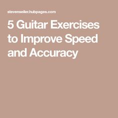 5 Guitar Exercises to Improve Speed and Accuracy Guitar Lessons For Kids, Electric Guitar Lessons, Music Lessons, Guitar Chord Progressions, Guitar Chord Chart, Learn Acoustic Guitar, Learn To Play Guitar, Acoustic Guitars, Easy Guitar