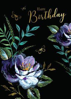 Di Brookes | Advocate Art Happy Birthday Floral, Happy Birthday Black, Birthday Wishes Flowers, Happy Birthday Video, Birthday Roses, Happy Birthday Greetings Friends, Happy Birthday Celebration, Happy Birthday Messages, Happy Birthday Images