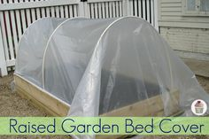 How to Make a Raised Garden Bed Cover Coddle your raised garden bed with this protective cover. to Make a Raised Garden Bed Cover Coddle your raised garden bed with this protective cover.Coddle your raised garden bed with this protective cover. Raised Garden Beds, Raised Beds, Raised Gardens, Backyard, Patio, Garden Boxes, Garden Projects, Garden Ideas, Outdoor Projects