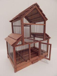 Small Single Bird Beautiful Decorative Handmade Wooden Birdcage   eBay