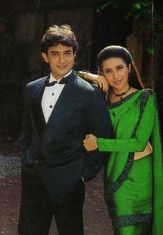 Karishma Kapoor and aamir khan