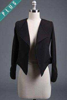 Blazer Jacket- Plus Size