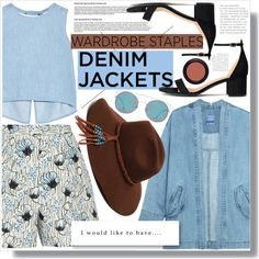 How To Wear No 441 Denim Jacket (Top Set) Outfit Idea 2017 - Fashion Trends Ready To Wear For Plus Size, Curvy Women Over 20, 30, 40, 50