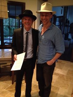Tom Hiddleston and Rodney Crowell