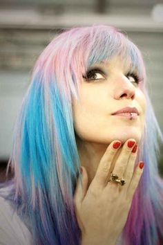 pastel pink and blue hair More #hairinspiration at http://www.hairchalk.co