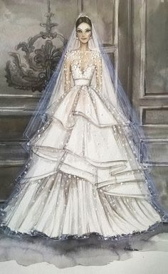 Bridal custom fashion illustration/wedding drawing - Best Picture For fashion design For Your Taste You are looking for something, and it is going to - Illustration Mode, Fashion Illustration Sketches, Fashion Sketchbook, Fashion Sketches, Design Illustrations, Wedding Dress Illustrations, Wedding Dress Sketches, Wedding Drawing, Fashion Design Drawings