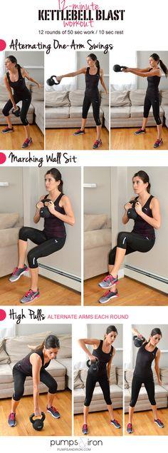 12-Minute Kettlebell Blast Workout #strong #fitness