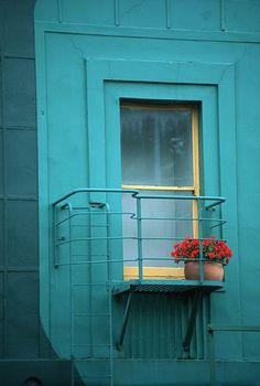 favorite color combo - primary colors of red, yellow & blue! Shades Of Turquoise, Aqua Blue, Shades Of Blue, Windows And Doors, My Favorite Color, Bold Colors, Color Inspiration, At Least, Mint