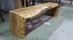 """rustic bench - 3"""" thick in maple - made as per customers request"""