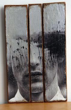 Juncos by MYLOVT on Etsy - paint on wood is pretty cool Image Deco, Alternative Photography, Encaustic Art, Portrait Art, Portraits, Assemblage Art, Art Techniques, Figurative Art, Painting Inspiration