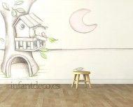 "Mural infantil de papel pintado ""koala árbol"""