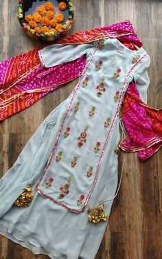 Buy Powder Blue Embroidered Dress Online – LabelKanupriya designs indian style Powder Blue Embroidered Dress You are in the right place about slimming clothes for women Here we offer you the mos Indian Gowns Dresses, Indian Fashion Dresses, Dress Indian Style, Pakistani Dresses, Indian Outfits, Punjabi Dress, Indian Suits Punjabi, Indian Dresses Online, Punjabi Salwar Suits