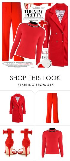 """""""Bright red"""" by vanjazivadinovic ❤ liked on Polyvore featuring L'Autre Chose, Gianvito Rossi, lilah b., polyvoreeditorial and twinkledeals"""
