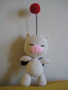 Moogle - Free Amigurumi Pattern here: http://goldenjellybean.com/youtube/other-video-game-dolls/moogle/