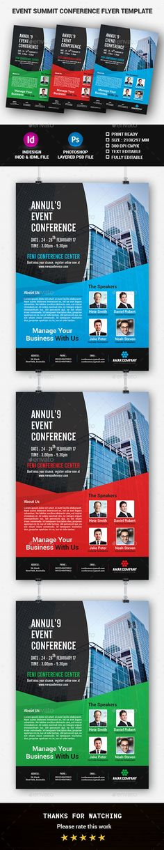 Flyer Template Flyer template, Psd flyer templates and Font logo - conference flyer template