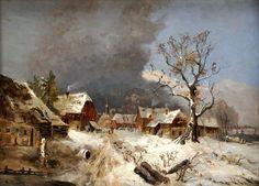 Remigius Adrianus van Haanen - Winters dorpsgezicht