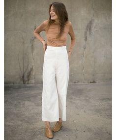 White Plank Pants