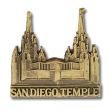 San Diego Temple Pin in Gold - $4.95