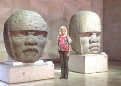 Three heads (two Olmec), Xalapa, Mexico www.barbararachko.com