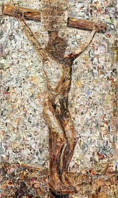 Coping masterpieces with paper. Por Vik Muniz con retazos de revista