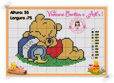 Simple Cross Stitch, Cross Stitch Charts, Cross Stitch Patterns, Disney Stitch, Beautiful Babies, Cross Stitching, Beading Patterns, Needlepoint, Teddy Bear