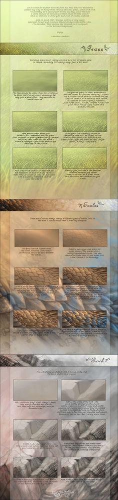 Various textures tutorial by MinnaSundberg on deviantART