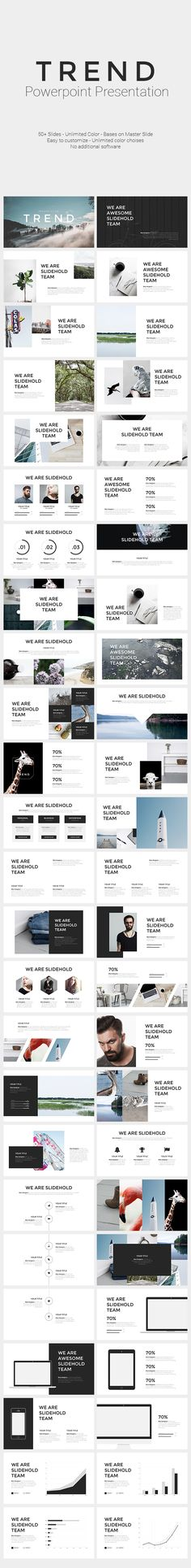 TREND | PowerPoint Template - #PowerPoint #Templates Presentation Templates Download here: https://graphicriver.net/item/trend-powerpoint-template/19442944?ref=alena994