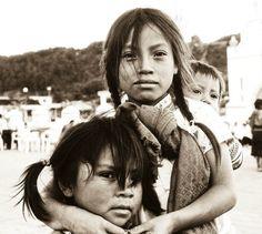 Kids in San Juan Chamula, Mexico