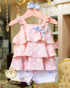 Baby Girl Sandals, Baby Girl Romper, Little Girl Dresses, Girls Dresses, Fashion Kids, Toddler Fashion, Kids Outfits Girls, Girl Outfits, Baby Dress Design
