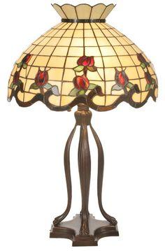 "Roseborder 31.5"" H Table Lamp with Bowl Shade"