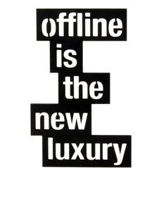 Mesaj decorativ - Offline is the new luxury Company Logo, Luxury, Logos, Logo