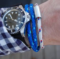 DIY: Rope Bracelet - via the Midwest Style- see men too can layer up!!! not just u ladies! ;P