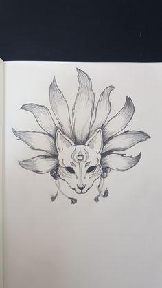 Body Art Tattoos, Sleeve Tattoos, Fox Tattoos, Tattoo Ink, Arm Tattoo, Hand Tattoos, Japanese Tattoo Designs, Small Tattoo Designs, Anime Drawings Sketches