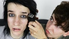 SHAVING MY EYEBROW OFF | Johnnie Guilbert + Bobby Mares