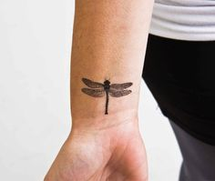 FLYING BUG (set of 2 temporary tattoos) - Bugs with wings are like people with super-powers. $5