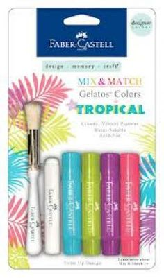 Faber Castell Gelatos: Tropical (though any color set would be nice) available at JoAnns and on Amazon