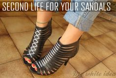 SECOND LIFE FOR YOUR SANDALS | MY WHITE IDEA DIY