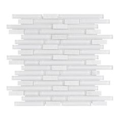Bliss Norwegian ice Glass Quartz Linear Blend Mosaics Tile