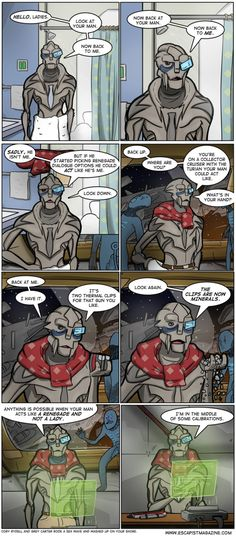 Old Spice Garrus!! OMG I was seriously talking about this but with Thane Krios the other day!!