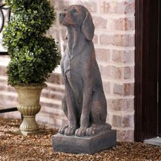 Concrete Dog Statue | Kirklands