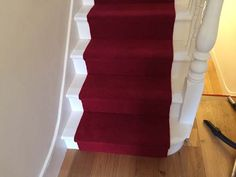Client: Private Residence In Central London Brief: To supply & install a red carpet stair runner Living Room Red, Stair Carpet, Basement Ideas, Carpets, Red Carpet, Flooring, London, Group, House