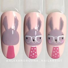 Diy Nails, Cute Nails, Nail Art Dessin, Nail Drawing, Romantic Nails, Korean Nail Art, Nail Techniques, Animal Nail Art, Easter Nail Art