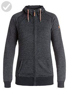 Roxy SNOW Junior's Resin Knit Fleece Jacket, True Black, L - All about women (*Amazon Partner-Link)