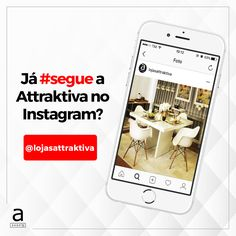 Ei pessoal, também estamos no Instagram, que tal seguir a gente por lá também: @lojasattraktiva. Assim você fica por dentro de todas as nossas novidades e promoções.❤️