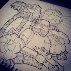 Lined this #starwars #tattoo today! | Use Instagram online! Websta is the Best Instagram Web Viewer!